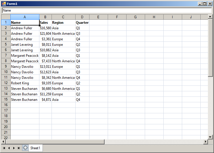 winforms spreadsheet sorting data mindfusion company blog. Black Bedroom Furniture Sets. Home Design Ideas
