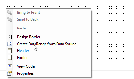 Create DataRange context menu.