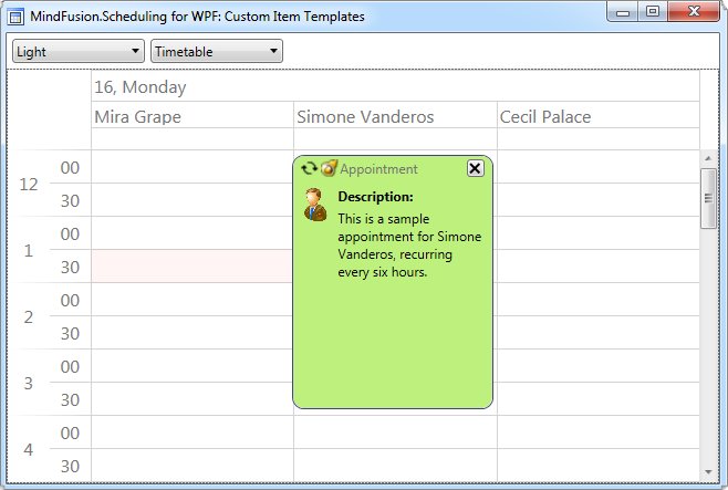 Scheduler for WPF: The Light Theme