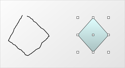 Wpf Diagram: Free Shapes