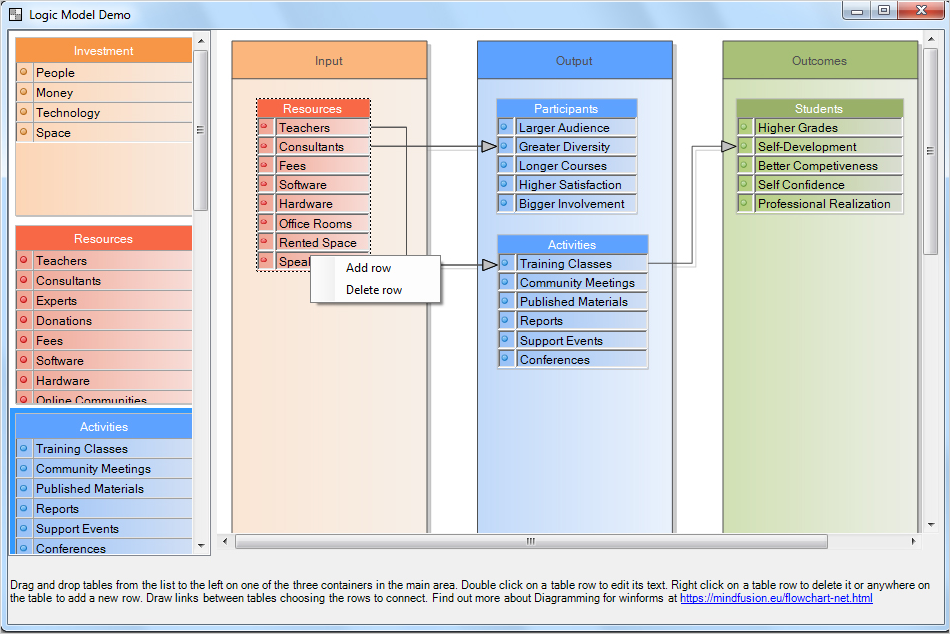 Logic Model Software Demo