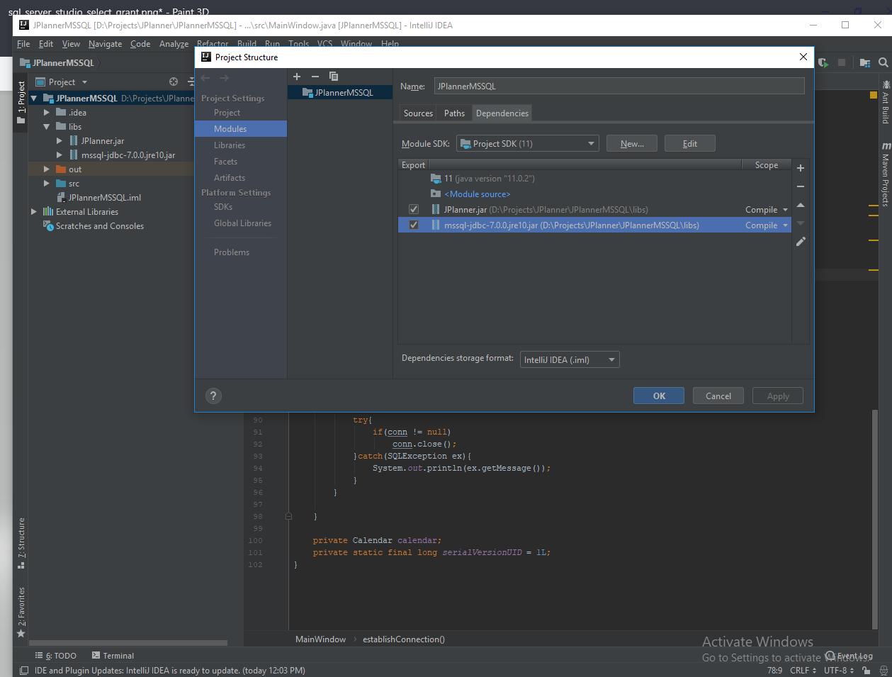 Configuring IntelliJ Project Modules
