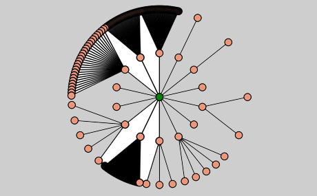 Automatic Diagram Layout Algorithms: Big Radial Layout