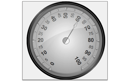 WinForms Oval Gauge