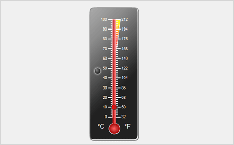 WinForms Thermometer Gauge