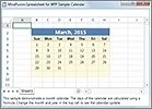 MindFusion Spreadsheet for WPF: Calendar