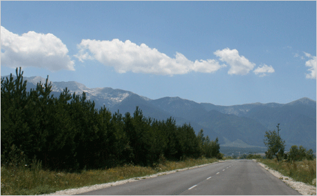 Mountains near Sofia, Bulgaria