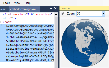 XML Viewer SVG Bild