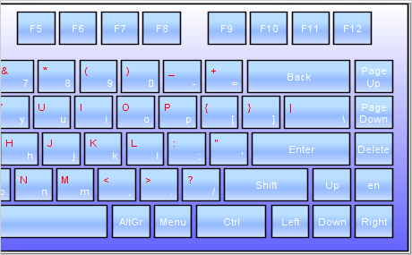 The Keyboard in Office Blue