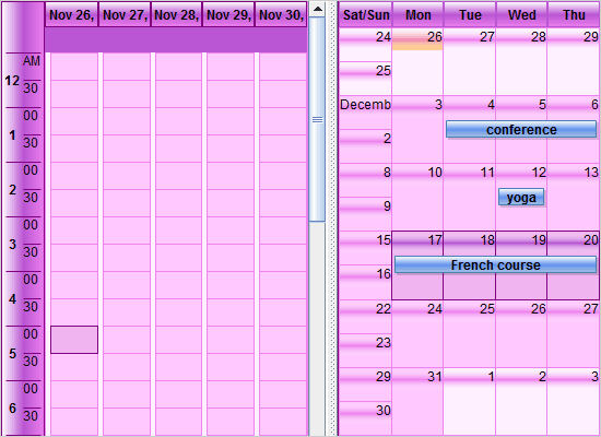 A Java Swing Calendar with Multiple Views