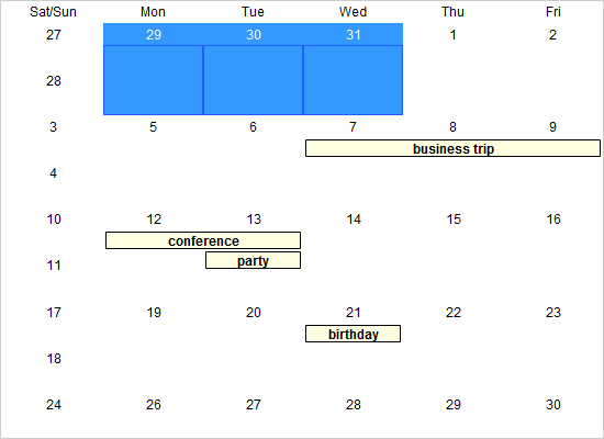 Styling and Events in a Java Swing Calendar
