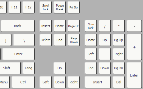 JavaScript Keyboard Library: Extended Layout