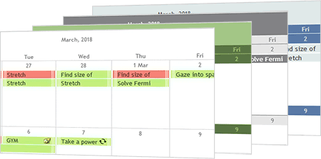 JavaScript Calendar with CSS Styling