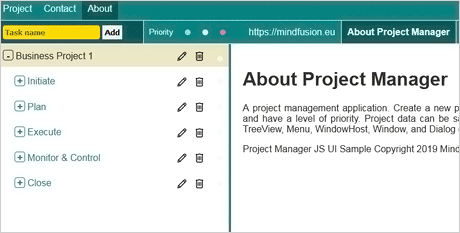 JavaScript Project Management Tool