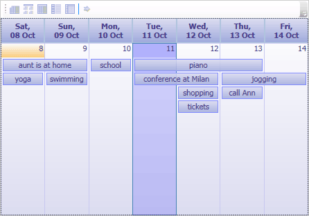 Scheduler List View
