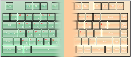 WinForms Virtual Keyboard Control: Themes
