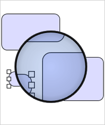 WinForms Diagram Library: Magnifier Tool
