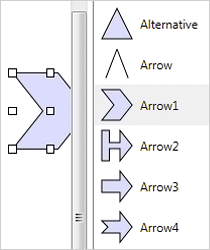 WinForms Diagram Component: ShapeListBox Control