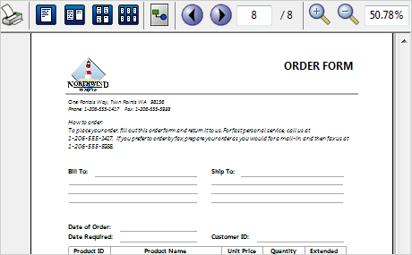 WinForms Reporter: Orders