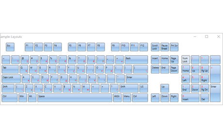 WPF Virtual Keyboard: Extended Layout