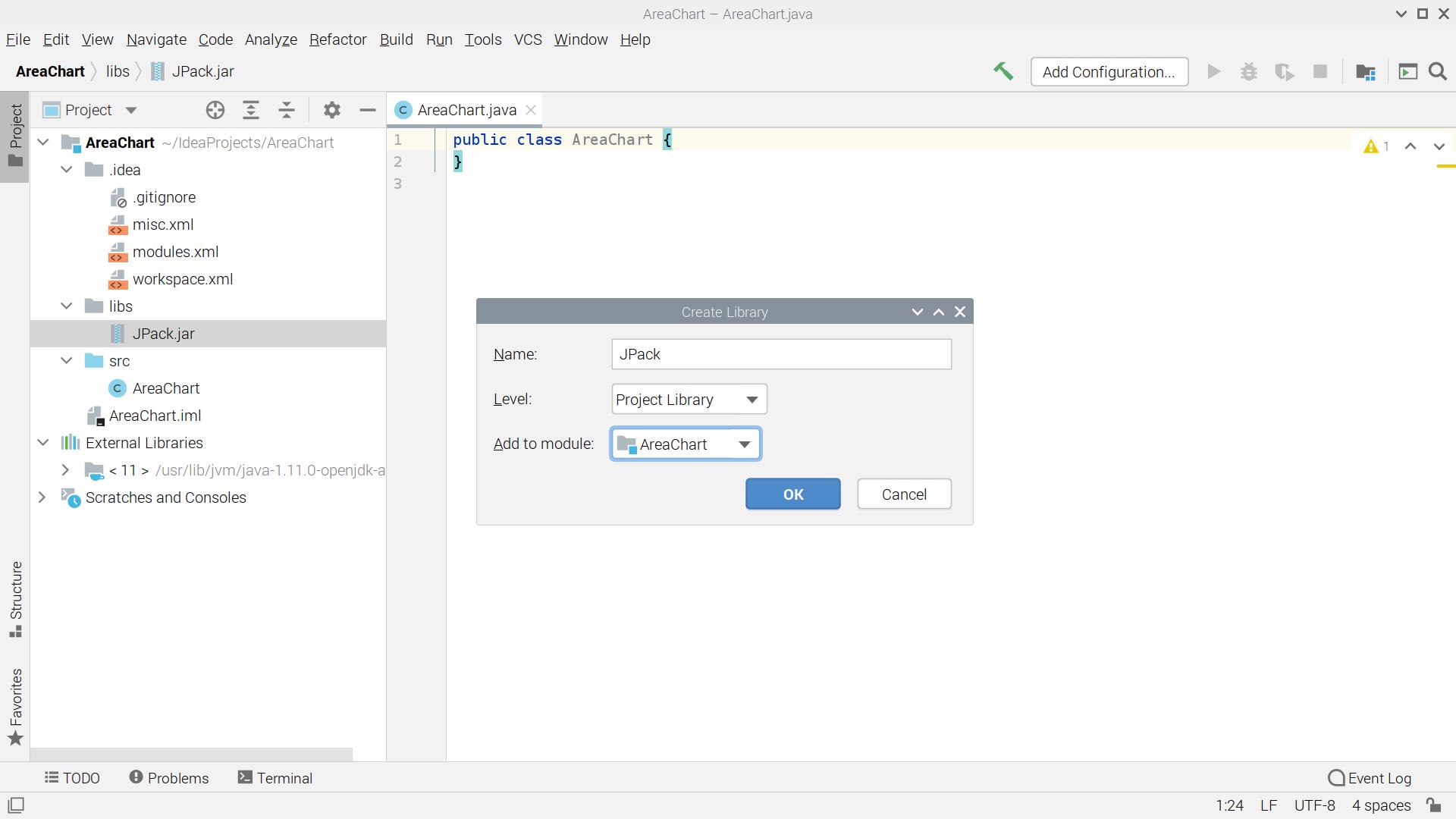 将外部jar文件添加到IntelliJ项目