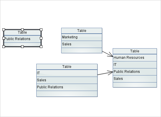 Diagramming for Java: Interactive Tables