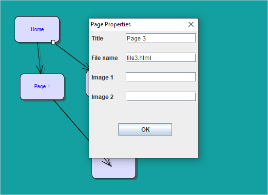 A Java Swing Diagram that Represents Website Structure