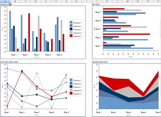 Charts in a Java Swing Spreadsheet