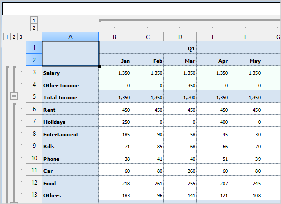 Features of the Spreadsheet Library for Java Swing