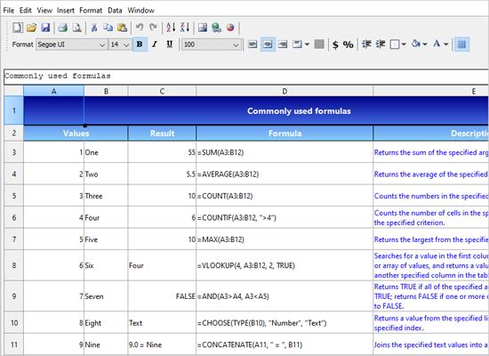 A Spreadsheet Application in Java Swing