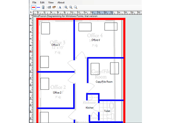 Diagramming for Winforms: Floor Plan