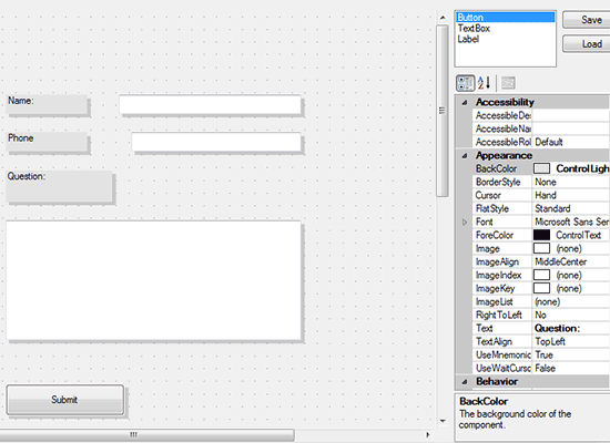 Diagramming for Winforms: Form Editor