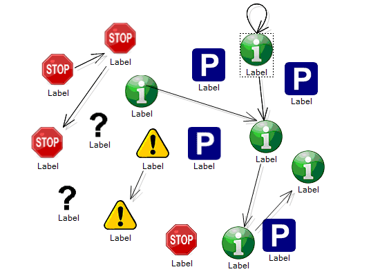 Icon Nodes in the WinForms Diagram Control