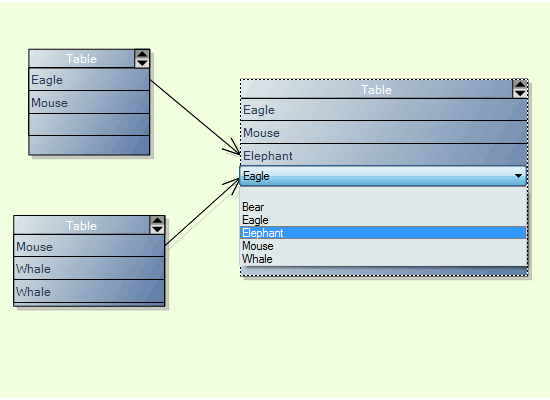 Diagramming for Winforms: Interactive Table