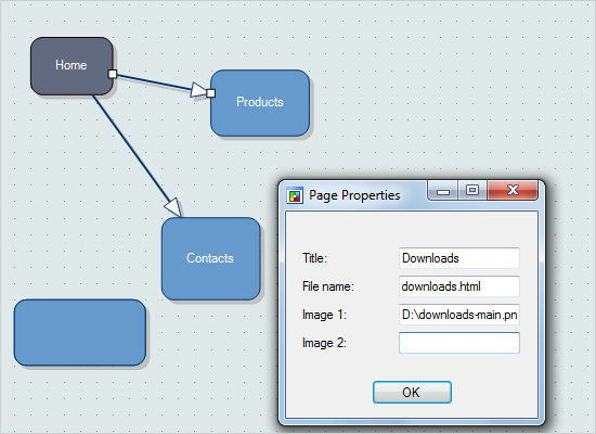 Diagramming for Winforms: Site Map