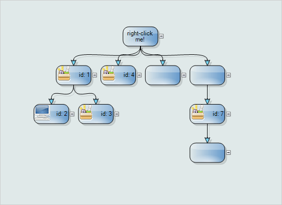 .NET Diagram Tool: Tree Layout Sample