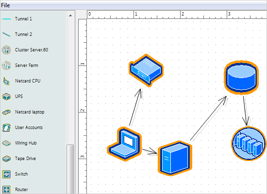 WinForms Diagram Control with Visio Stencils