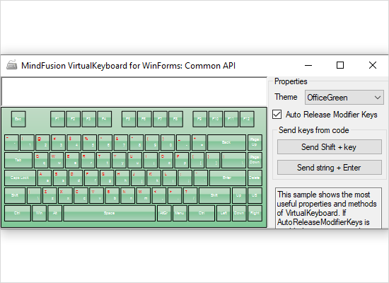 Virtual Keyboard for WinForms: API Overview