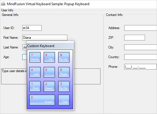 WinForms Popup Virtual Keyboard: NumPad