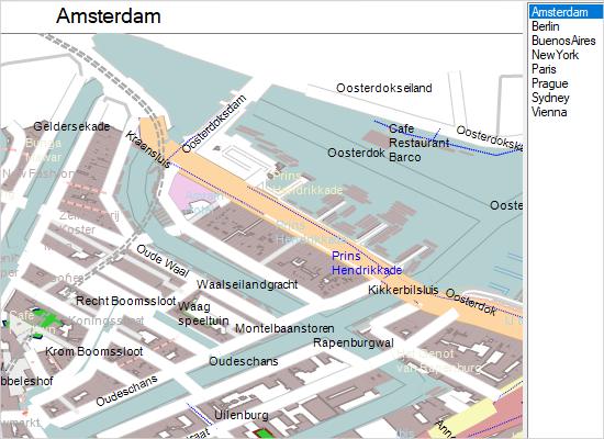 MindFusion OpenStreetMap Support in the WinForms Mapping Library