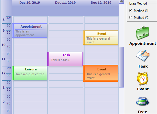 Implementing Drag and Drop in MindFusion Planner