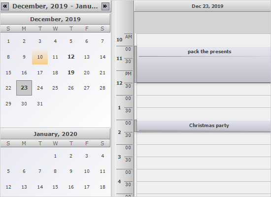 MindFusion WinForms Scheduler: Dual View