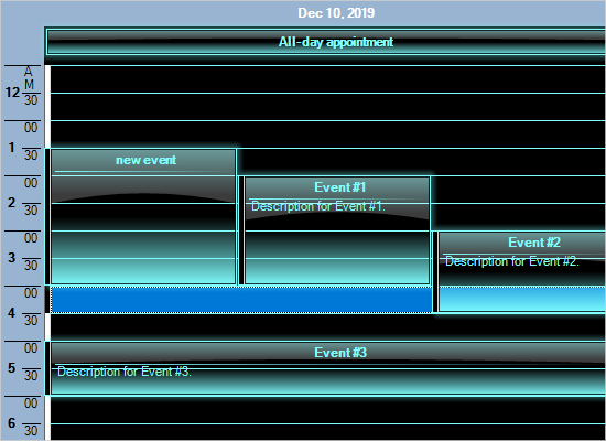 Schedule Effects in the WinForms Control