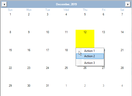 Highlighting of Dates and Cells in the Scheduling Library