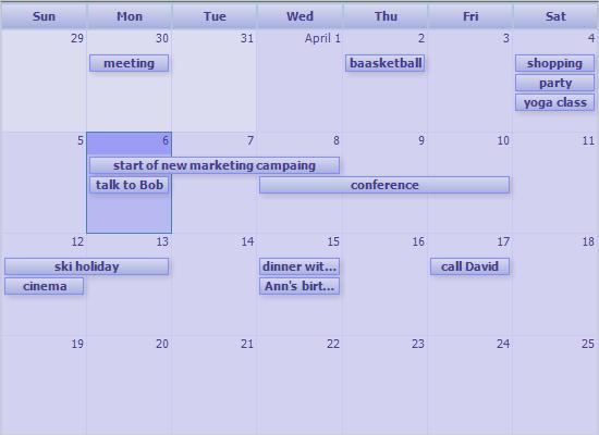 .NET Time Management Control: ICalendar Format