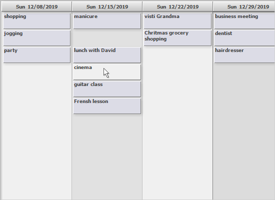 WinForms Time Management Library: List View