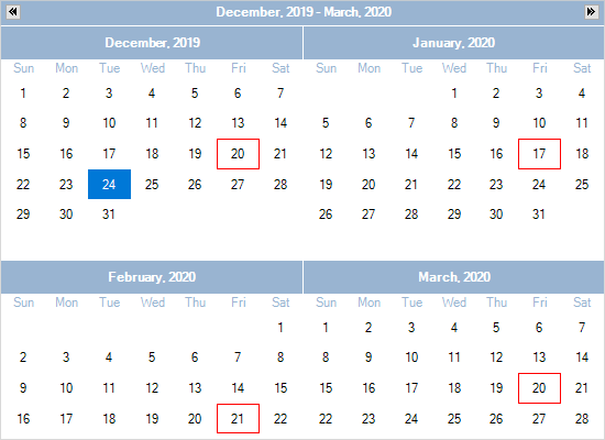 Appointment Recurrece with MindFusion Planner.NET