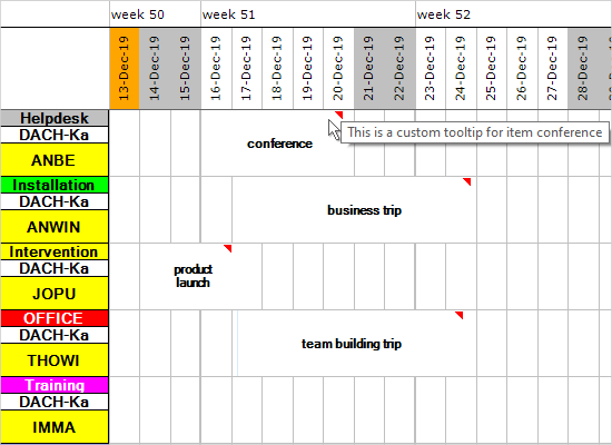 Resource Schedule in WinForms