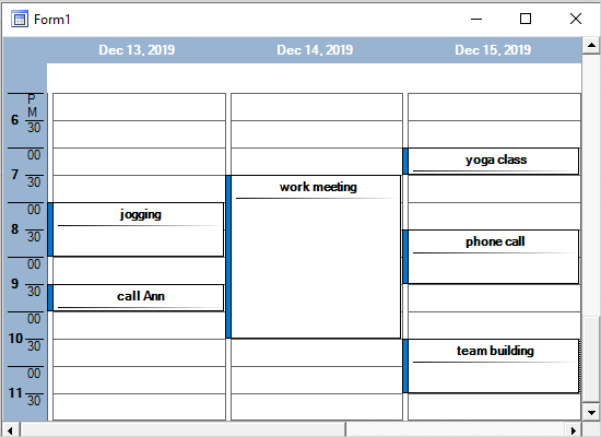 Timetable in WinForms