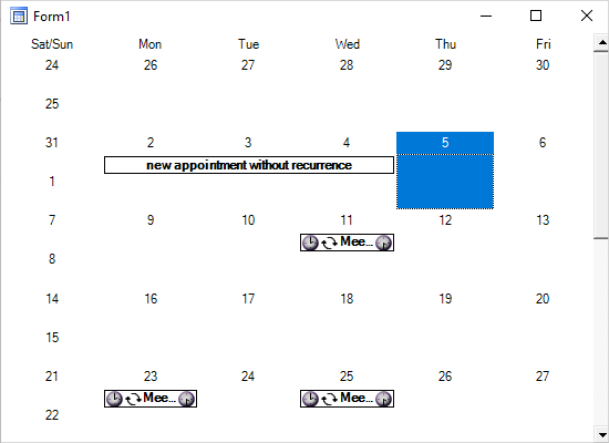 Recurring Appointments with MindFusion .NET Calendar